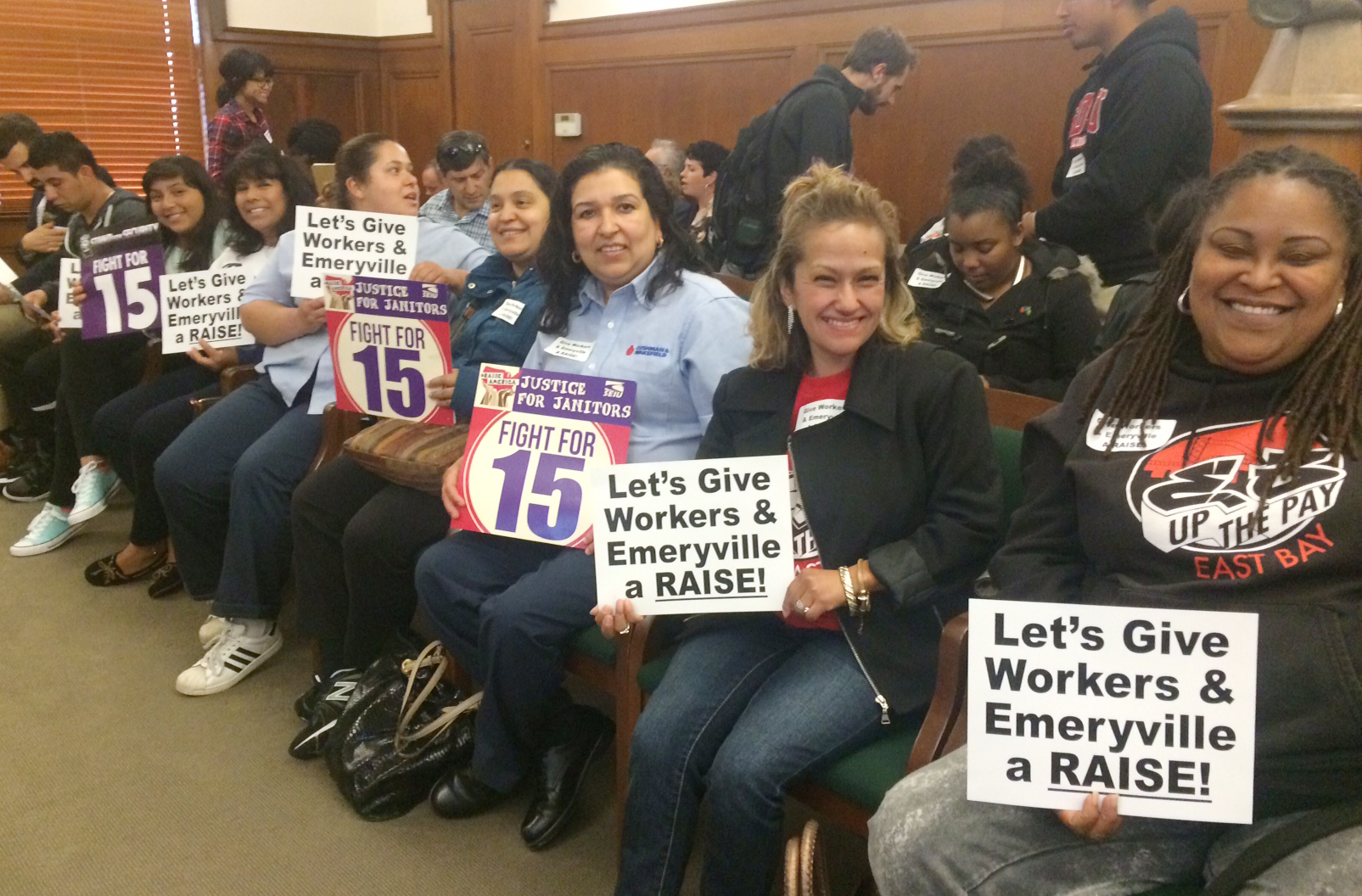 Fight for $15 members rally for higher minimum wage in Emeryville